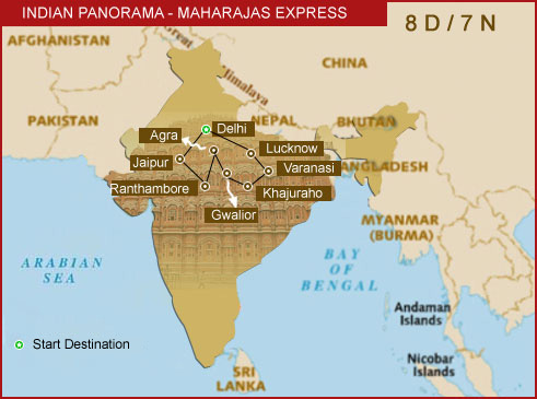 Indian Panorama Route Map